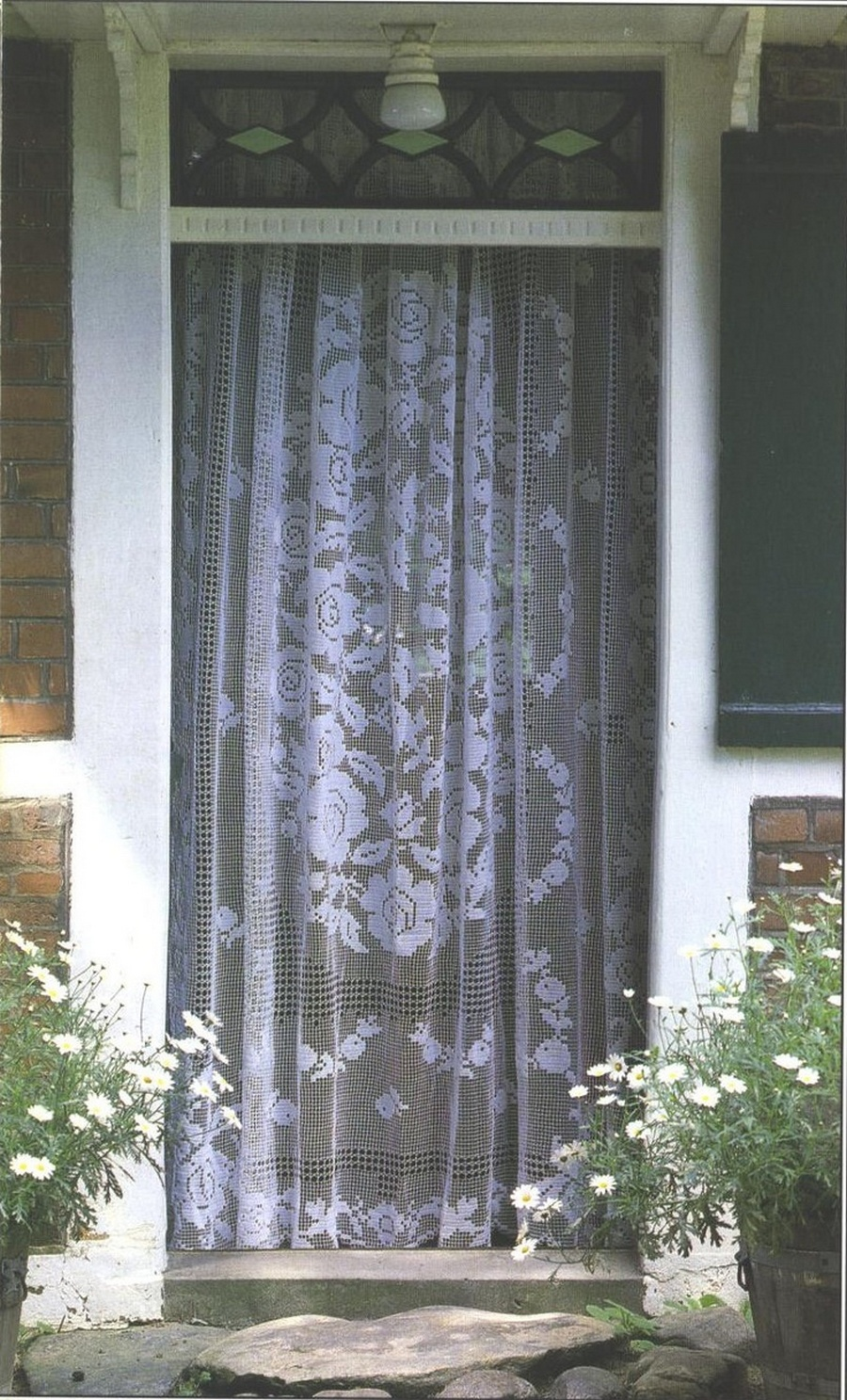 Lace door curtains3